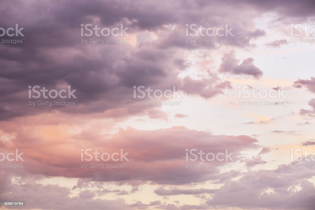 Stratocumulus Pastel Sunset Cloudscape Sky stock photo