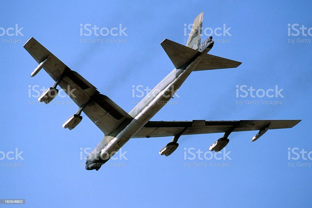 B52 Stratofortress Strategic Nuclear Bomber stock photo