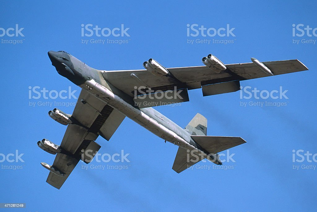B52 Stratofortress Strategic Nuclear Bomber stock photo