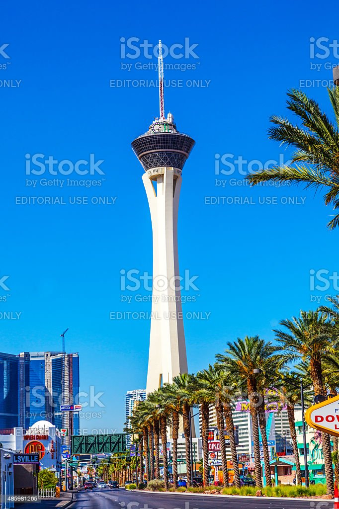 Stratosphere casino and hotel in Las Vegas stock photo