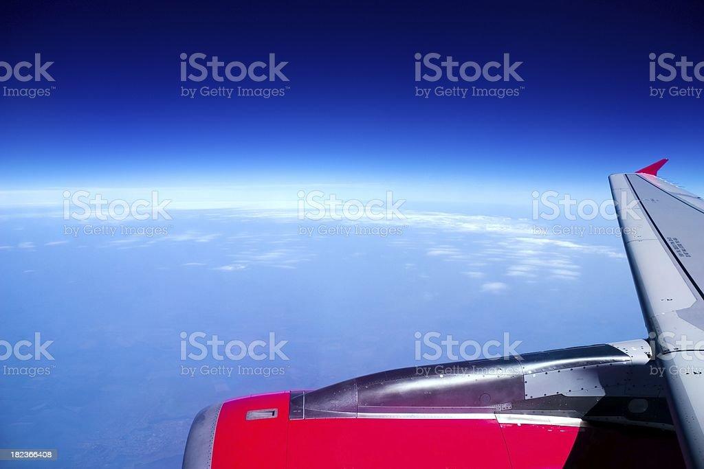 Stratosphere flight royalty-free stock photo