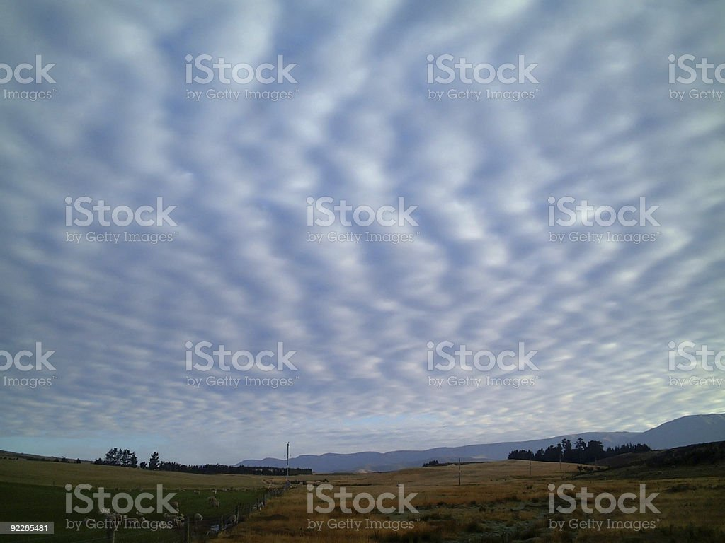 stratus cloud stock photo