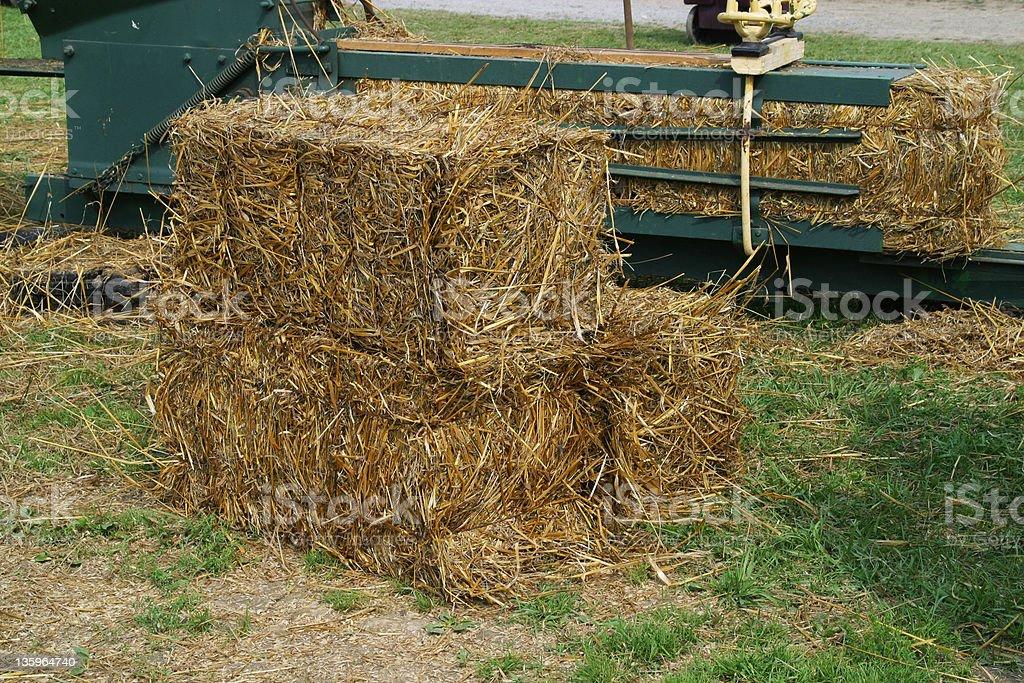 Straw Bails stock photo