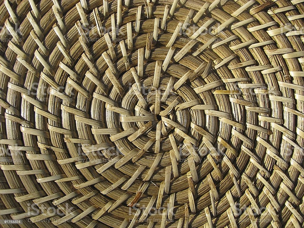 Straw  bamboo hat texture. stock photo