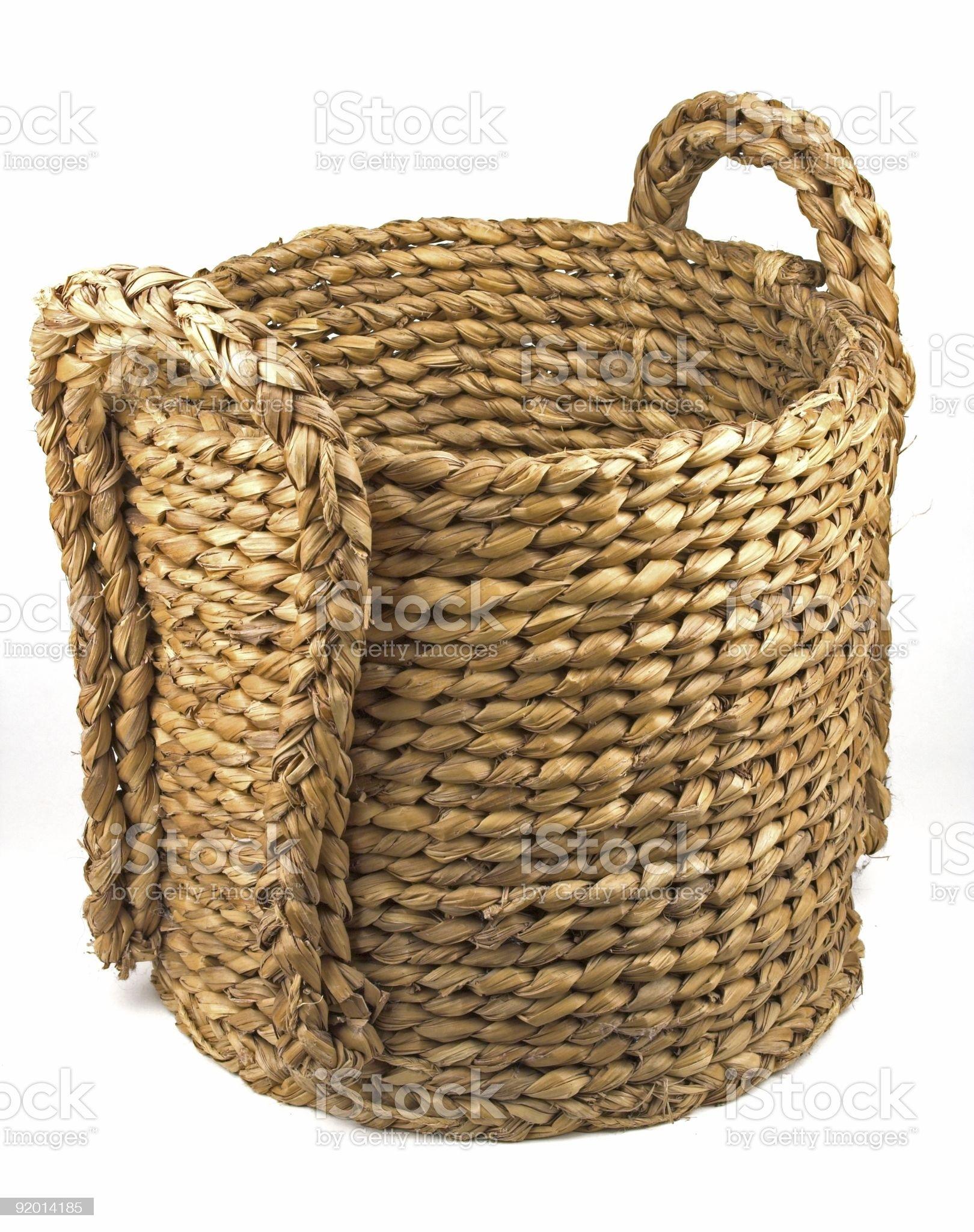 Straw Basket royalty-free stock photo