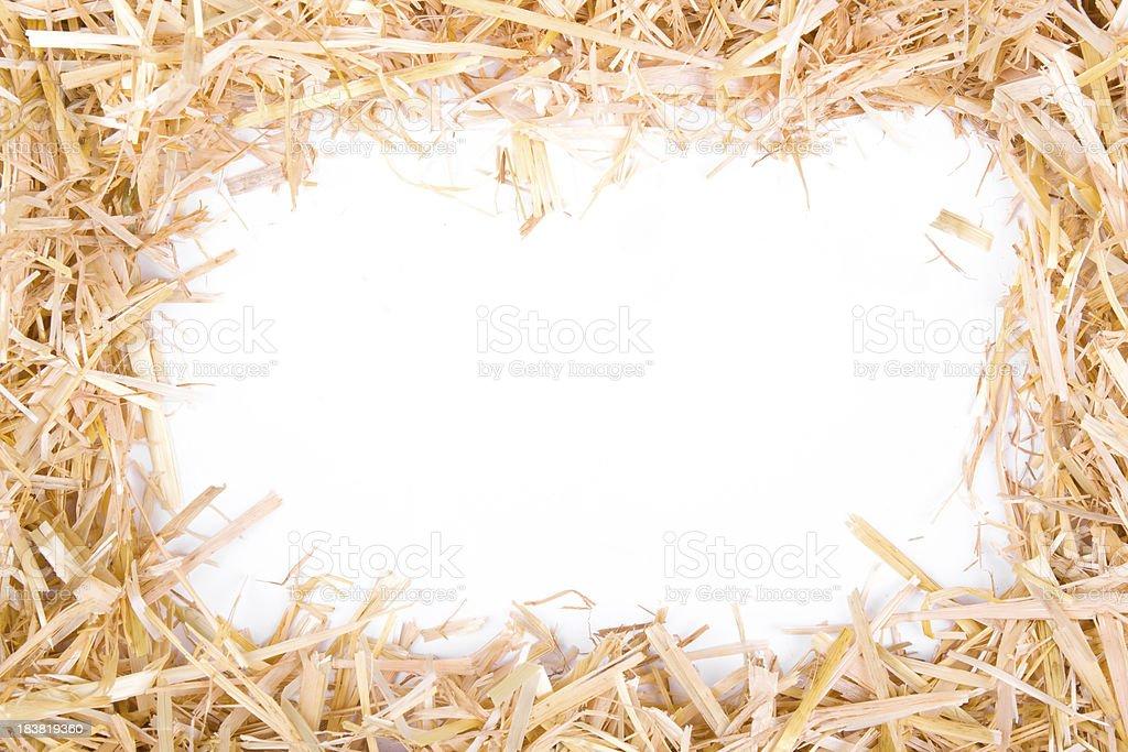 straw frame stock photo