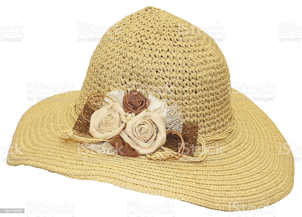straw hat royalty-free stock photo