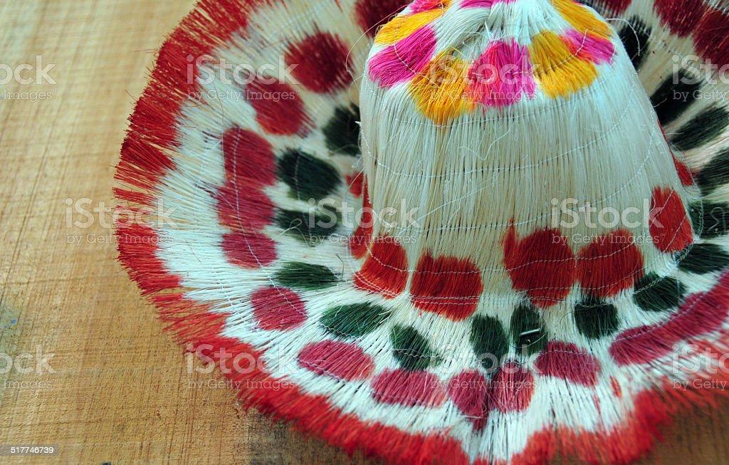 Straw hat, Dominican republic stock photo