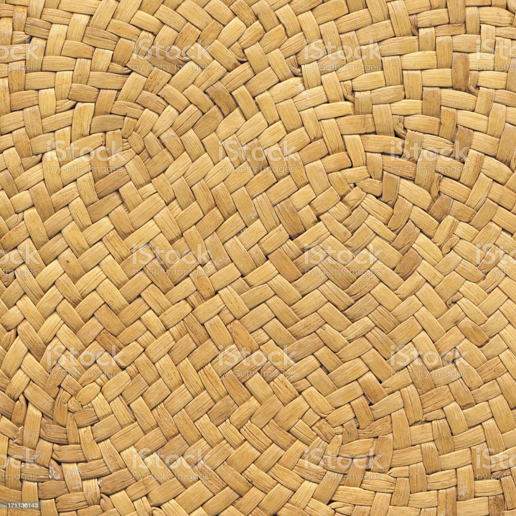 Straw Hat High Resolution Criss Cross Woven Pattern royalty-free stock photo