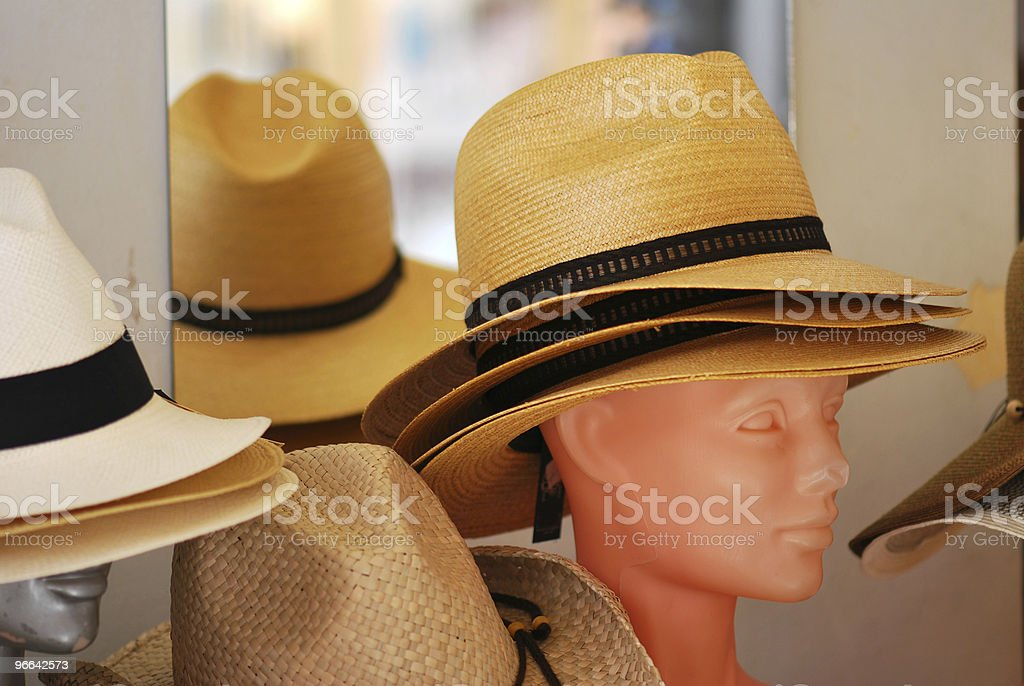 Straw Hat shopping royalty-free stock photo