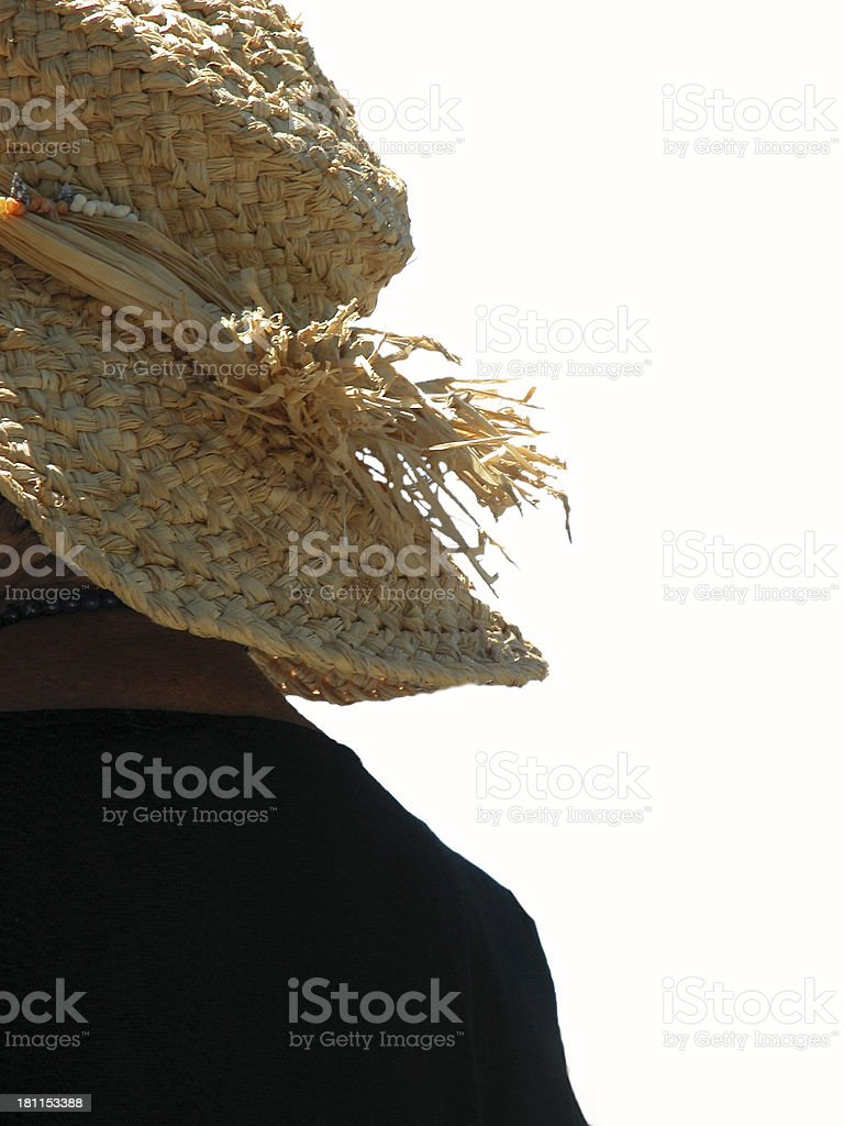 Straw Hat with clipping path royalty-free stock photo