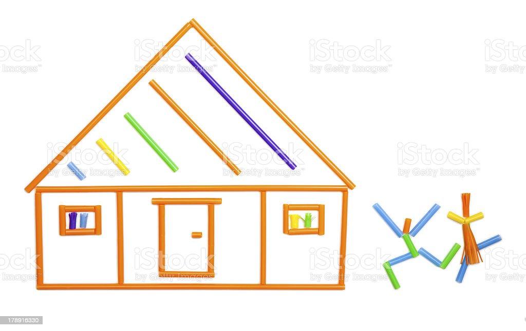 Straw home stock photo