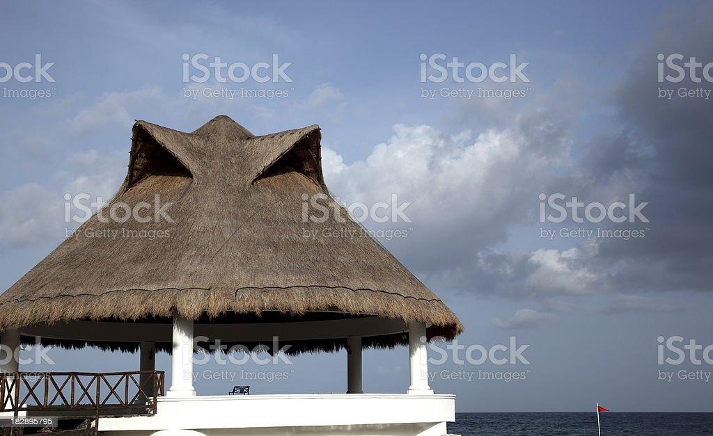 Straw House stock photo