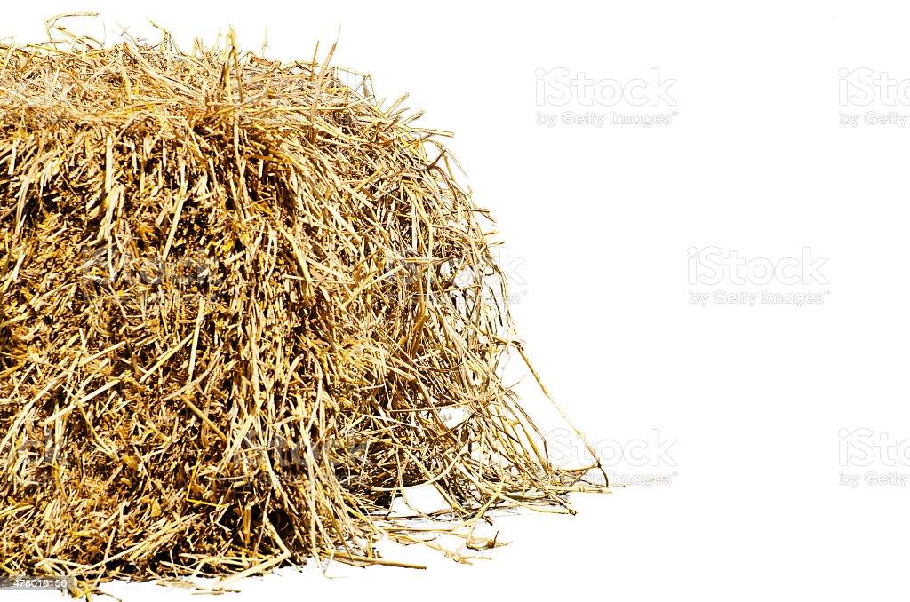 Straw left stock photo