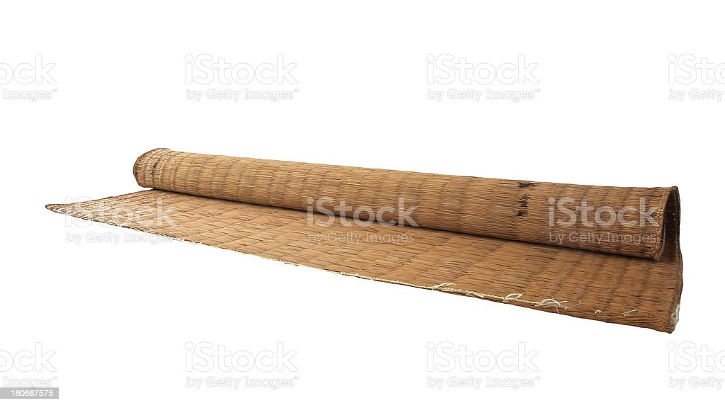straw mat isolated on white royalty-free stock photo