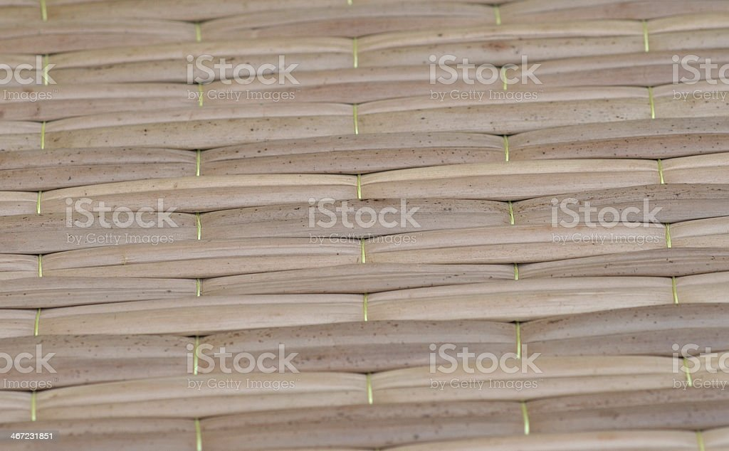 Straw mat texture stock photo