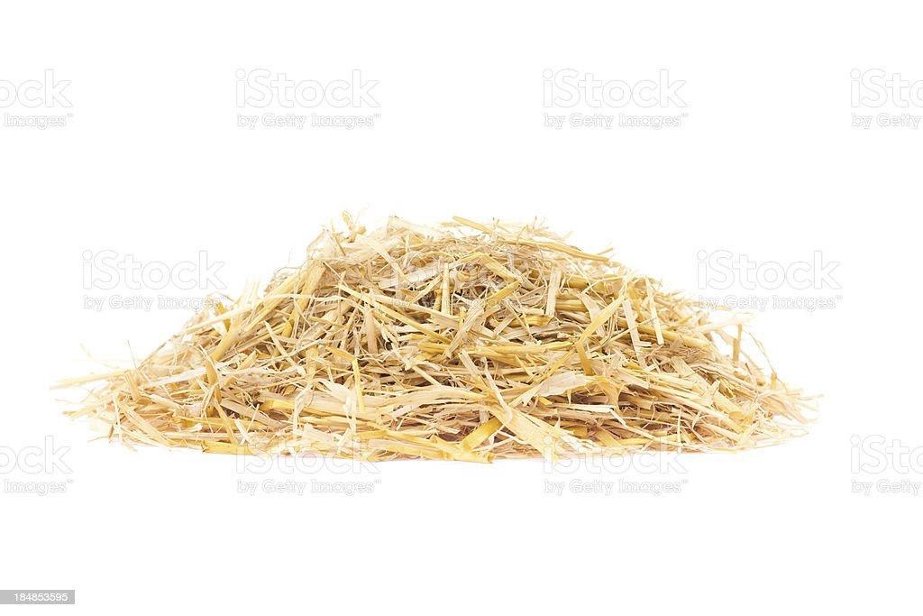 Straw pile isolated on white royalty-free stock photo