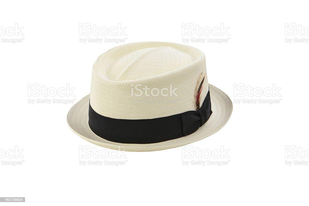 Straw Pork Pie Hat stock photo