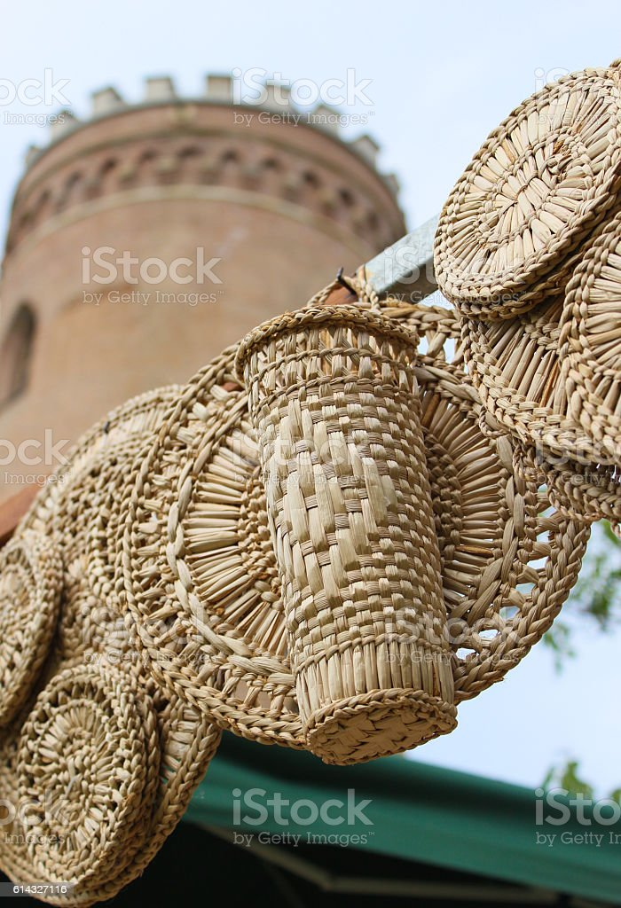 Straw quiver stock photo