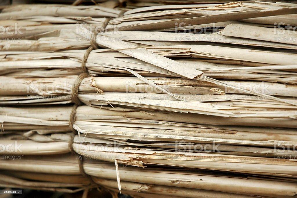 Straw Reed Bundle royalty-free stock photo