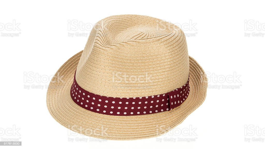 Straw sun hat stock photo