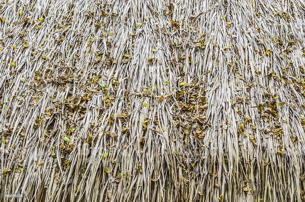 Straw thatched roof. royalty-free stock photo