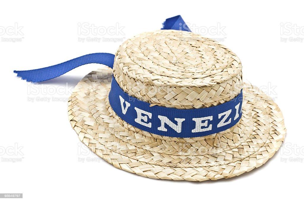 Straw venice hat stock photo