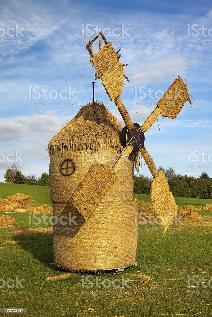 straw wind mill royalty-free stock photo