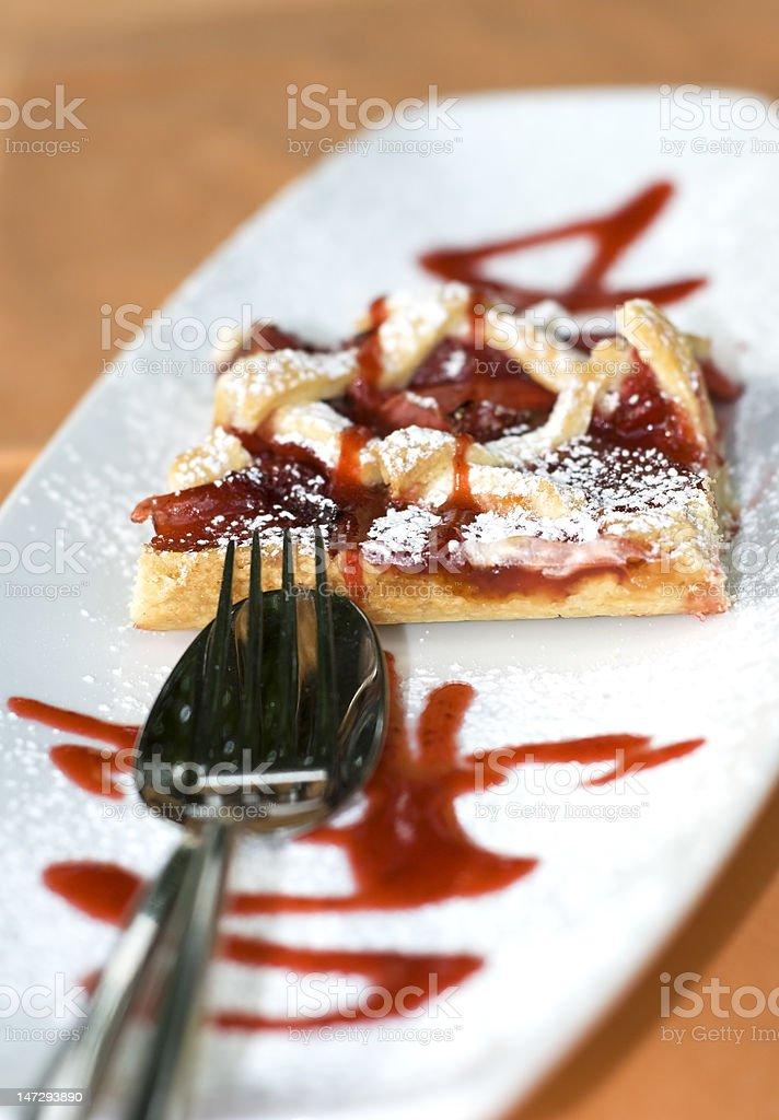 Strawbeery pie close up royalty-free stock photo