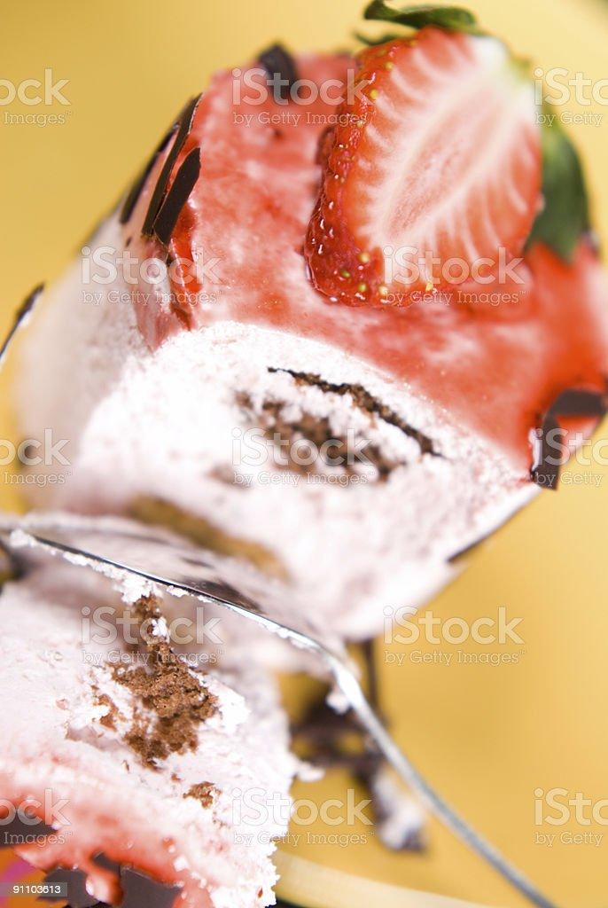 Strawberrie cake stock photo