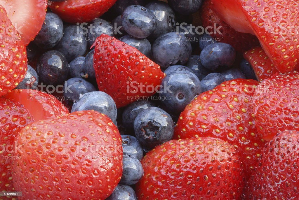 Strawberries and Blueberries II royalty-free stock photo