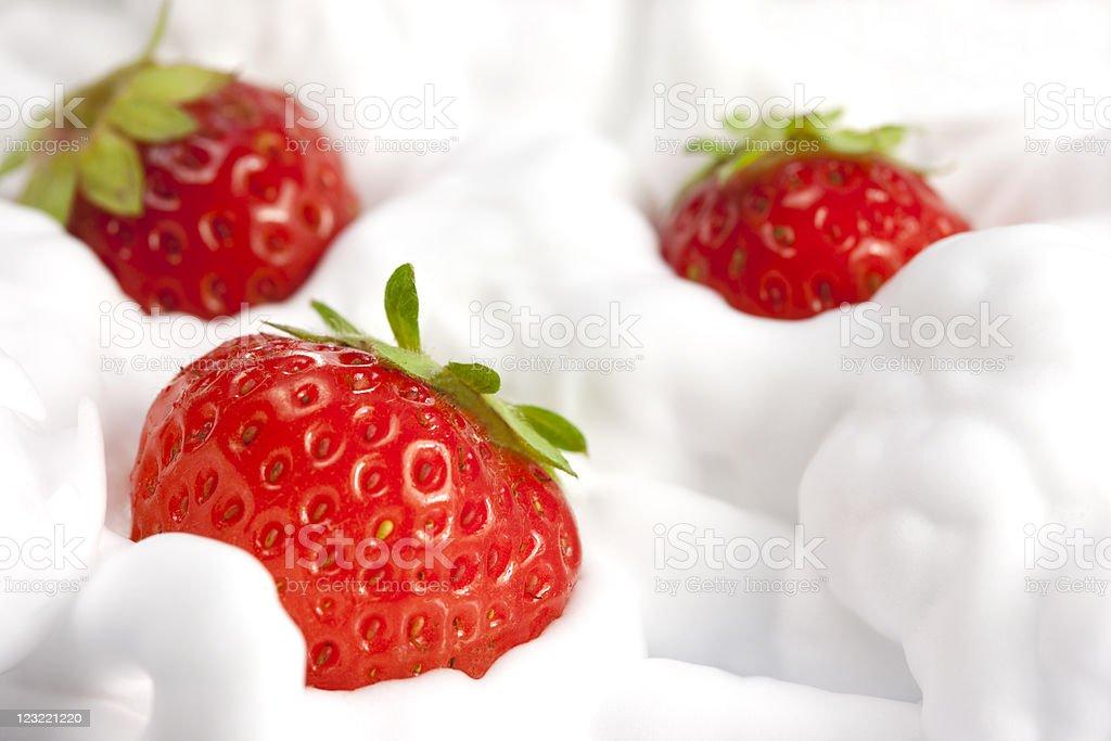 strawberries and cream royalty-free stock photo