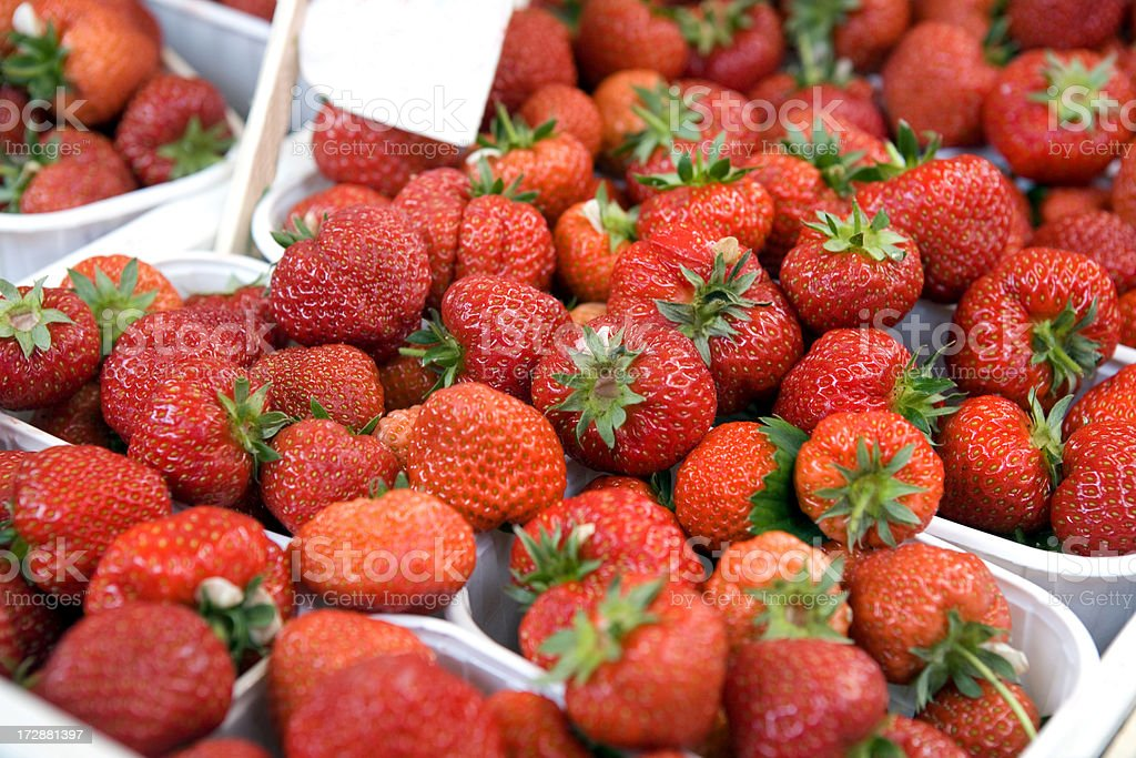Strawberries at Market royalty-free stock photo
