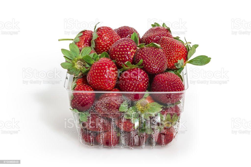 Strawberries Basket stock photo