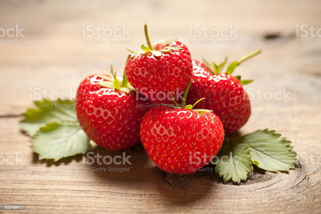 Strawberries close up royalty-free stock photo