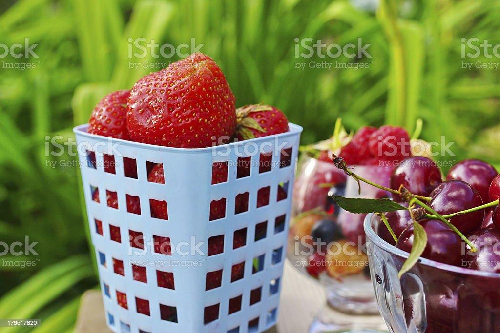 Strawberries Diet Nutrition Arrangement royalty-free stock photo