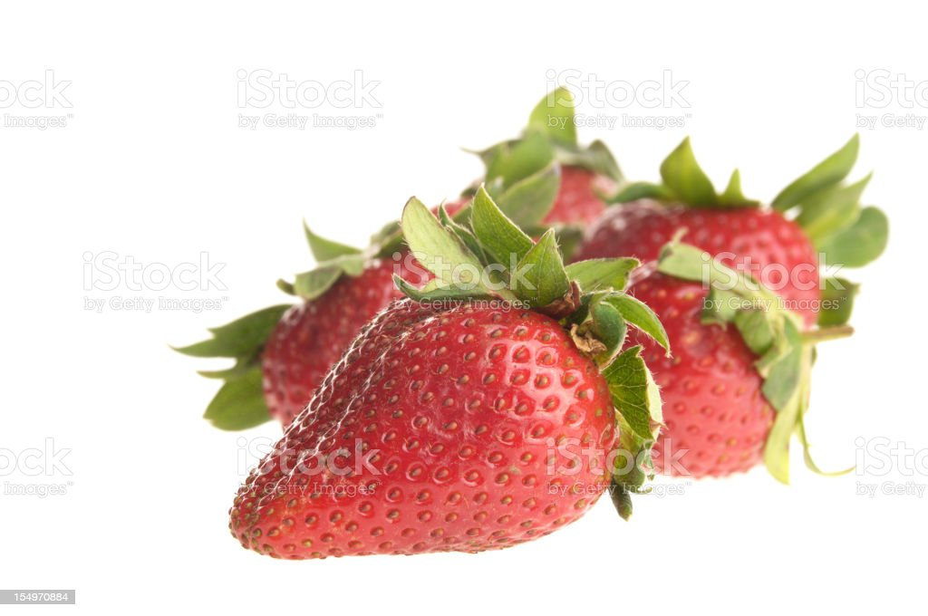 Strawberries front to back. royalty-free stock photo