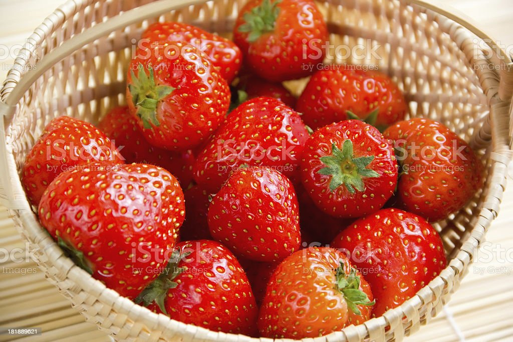Strawberries in a basket royalty-free stock photo