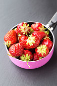 strawberries in a dipper