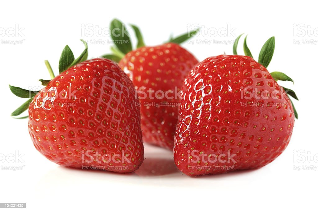 Strawberries isolated on white royalty-free stock photo