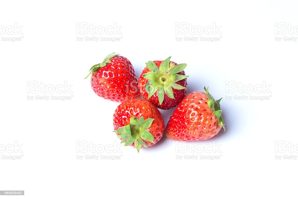 Strawberries isolated over white background royalty-free stock photo