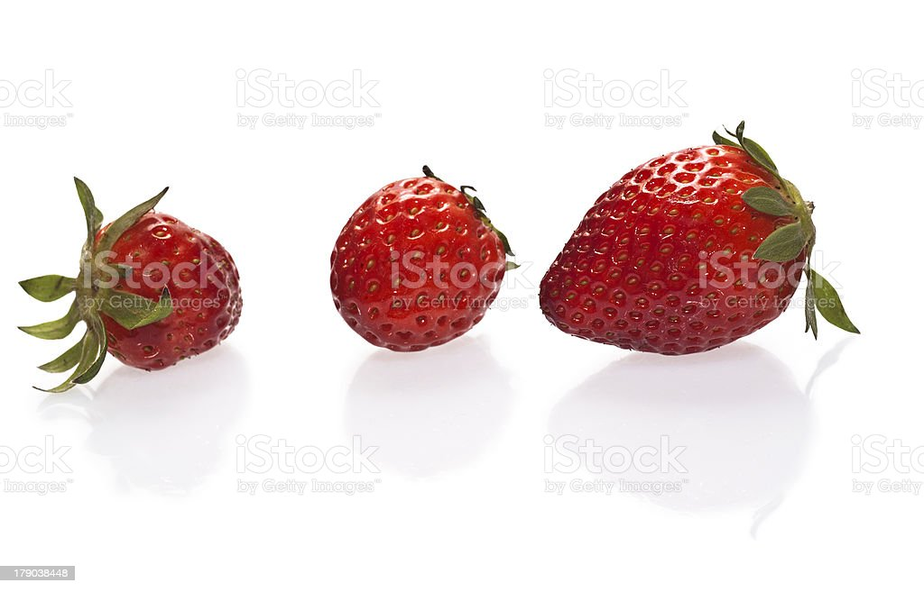 Strawberries isolated over white stock photo