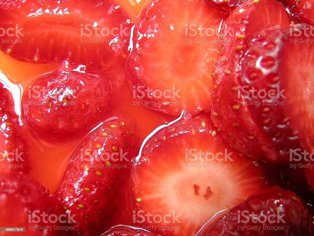 Strawberries Macerated - Close-up (2) stock photo