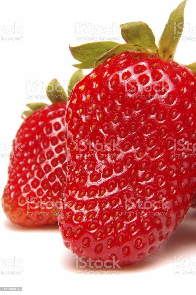 Strawberries - Macro 2 stock photo