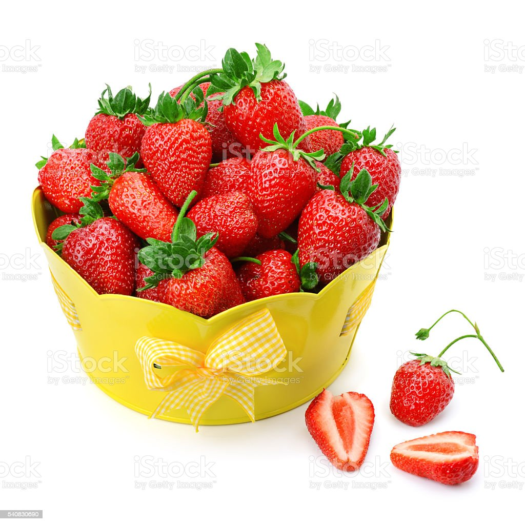 strawberries on the plate stock photo