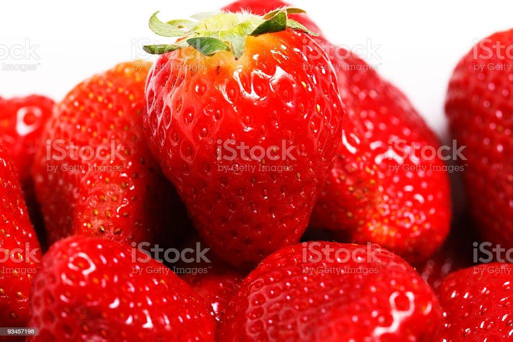 Strawberries on white background stock photo