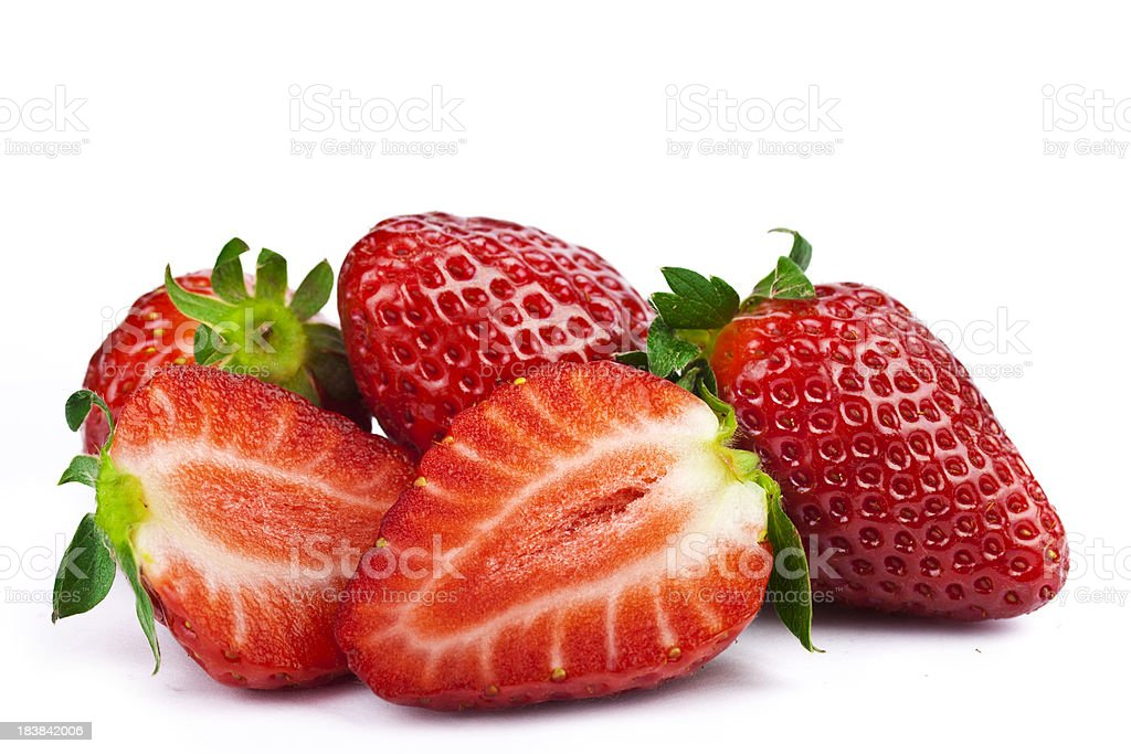 Strawberries on White stock photo