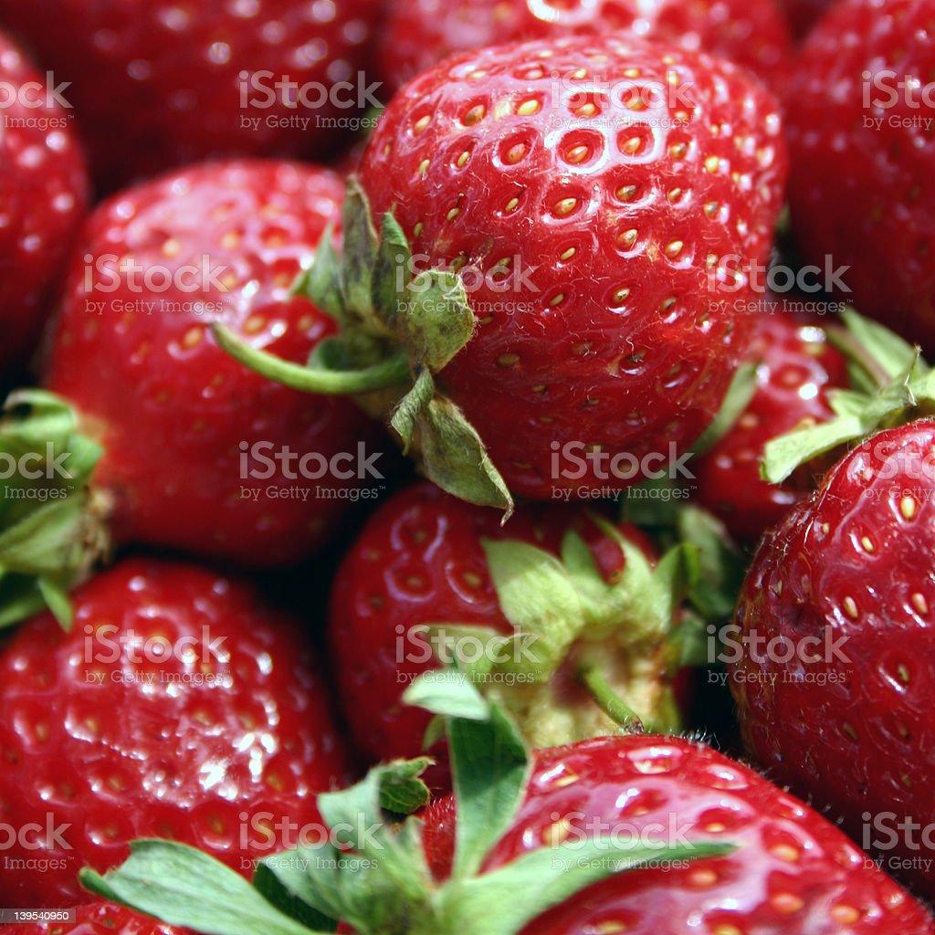 Fresas foto de stock libre de derechos