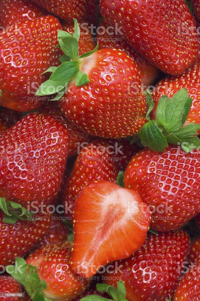 Strawberries wallpaper royalty-free stock photo