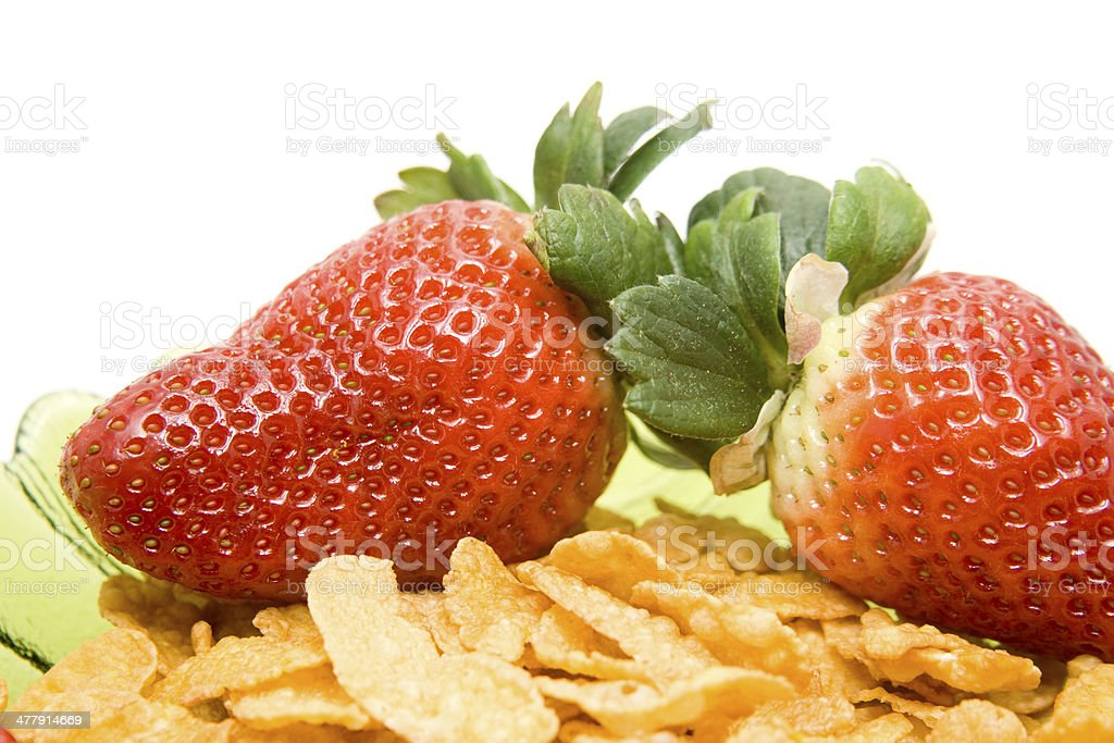 Strawberries with muesli in bowl royalty-free stock photo
